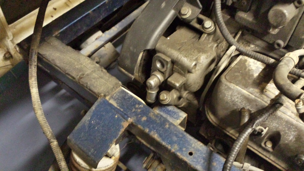 Steering pump touches chassis